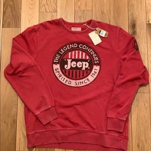 Lucky Brand Jeep print sweater size Large